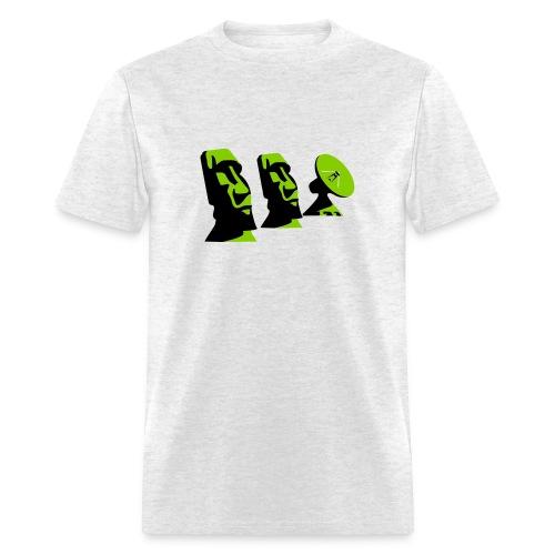 Moai and Satellite Dish - Men's T-Shirt