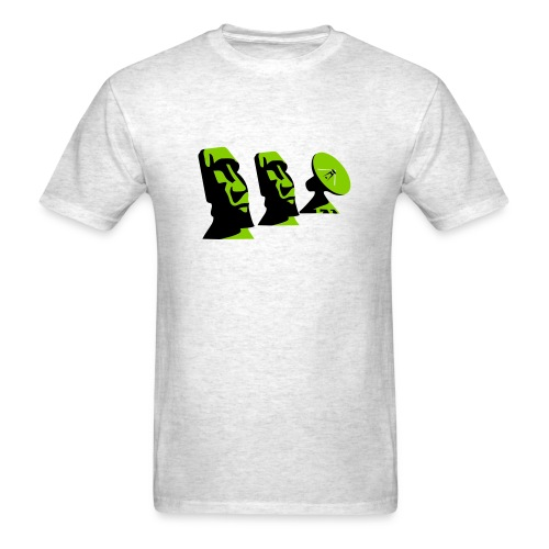 Moai and Satellite Dish - Men's T-Shirt
