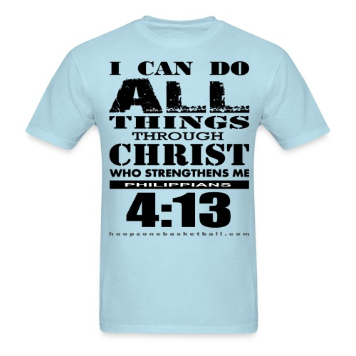 I Can Do All Things w/dark art - Men's T-Shirt