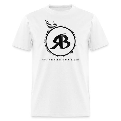 RB Black on White T-Shirt - Men's T-Shirt
