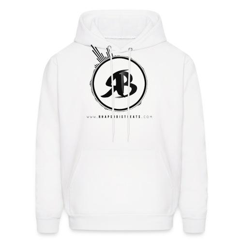RB Black on White Hoodie - Men's Hoodie