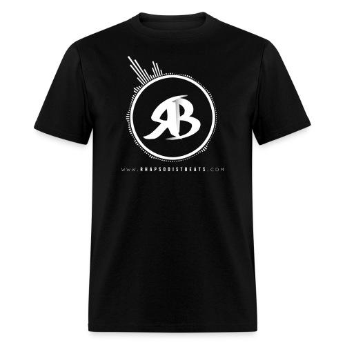 RB White on Black T-Shirt - Men's T-Shirt