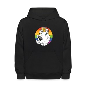 Family Dog Rescue Pride (I Heart Family Dog on back): Kids Hoodie - Kids' Hoodie