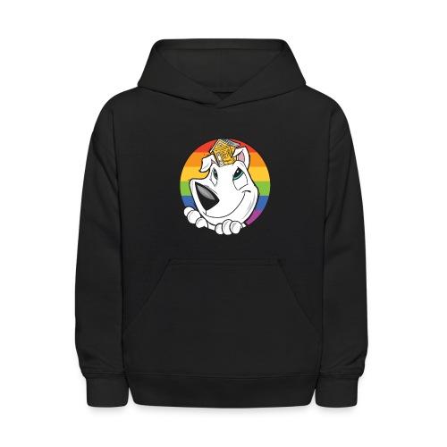 Family Dog Rescue Pride (I Heart Family Dog on back): Kids Hoodie - Kids' Hoodie