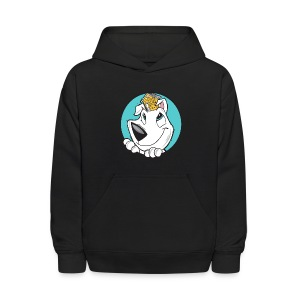 Family Dog Rescue (I Heart Family Dog on back): Kids Hoodie - Kids' Hoodie