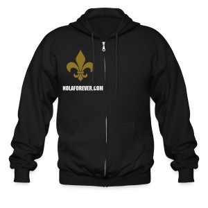NOLA zipped hooded sweats - Men's Zip Hoodie
