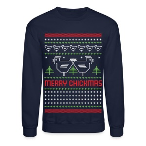 Chickmas sweater - Crewneck Sweatshirt