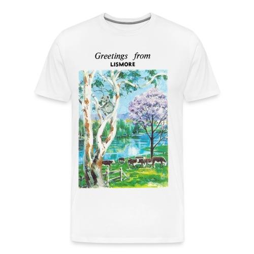 Greetings from Lismore - Men's Tshirt - Men's Premium T-Shirt