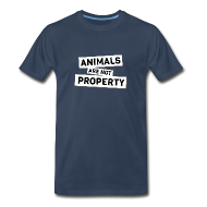T-Shirts ~ Men's Premium T-Shirt ~ Animals are not Property