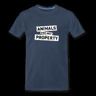 T-Shirts ~ Men's Premium T-Shirt ~ Animals are not Property