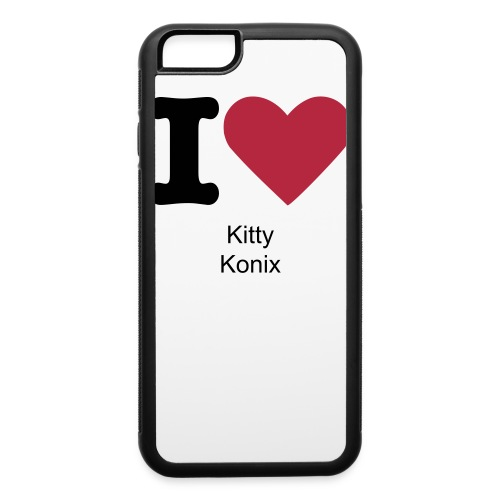 I Love Kitty Konix iPhone Case - iPhone 6/6s Rubber Case