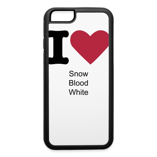 I Love Snow Blood White iPhone Case - iPhone 6/6s Rubber Case