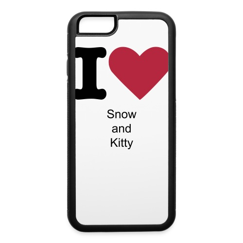 I Love Snow and Kitty iPhone Case - iPhone 6/6s Rubber Case