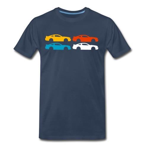 Multi-color Silhouette Mustang - Men's Premium T-Shirt