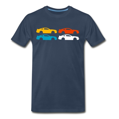 Multi-color Silhouette Mustang - Men's Premium T-Shirt