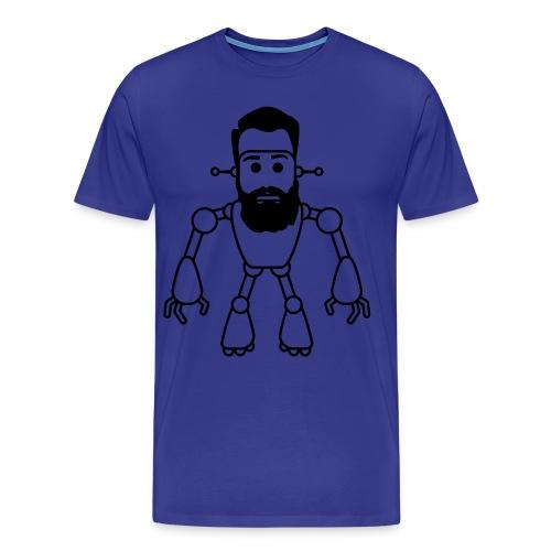 beard robot - Men's Premium T-Shirt