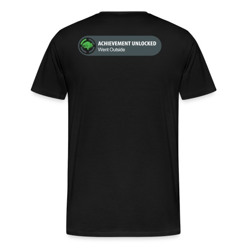 Achievement Unlocked Going Out Side - Men's Premium T-Shirt