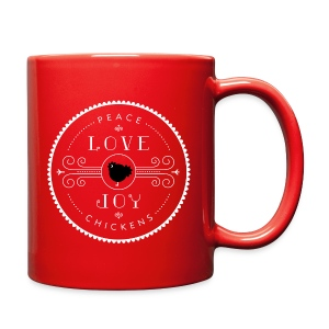 Peace, Love, Joy, Chickens - Full Color Mug