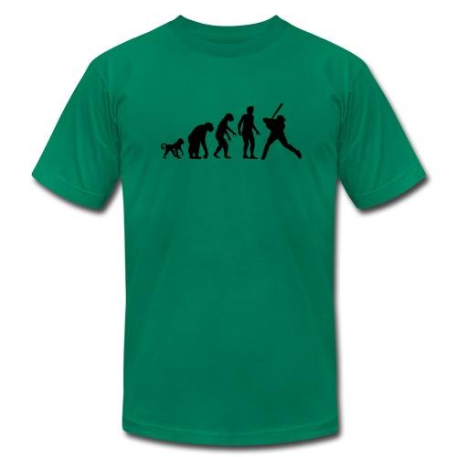 The Evolution of Baseball - Men's Fine Jersey T-Shirt