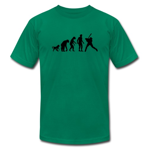 The Evolution of Baseball - Men's  Jersey T-Shirt