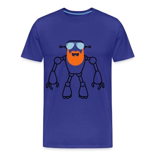 beard robot -Matt - Men's Premium T-Shirt