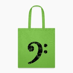 Bass Clef Musical Symbol Tote Bag