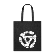Bags & backpacks ~ Tote Bag ~ 45 R.P.M. Record Adaptor Tote Bag (Black/White)