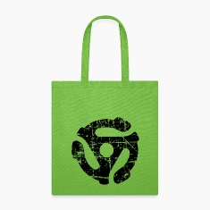 45 R.P.M. Record Adaptor Tote Bag (Green/Black)