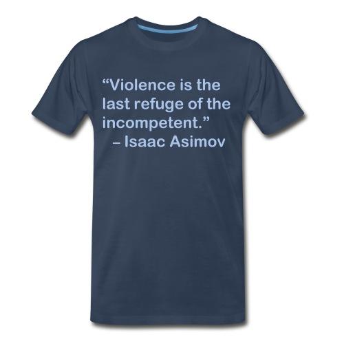 Asimov on Violence - Men's Premium T-Shirt
