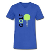 Golf - Men's V-Neck T-Shirt by Canvas