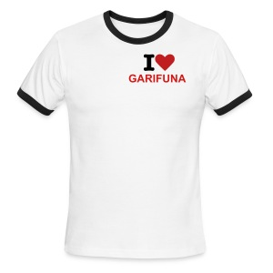 I Love Garifuna Female Sport Tee - Men's Ringer T-Shirt