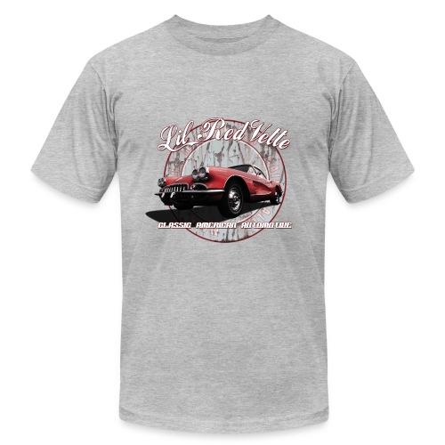 Men's T-Shirt by American Apparel   58 Corvette   Classic American Automotive - Men's Fine Jersey T-Shirt