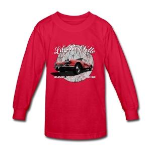 Kids' Long Sleeve T-Shirt | 58 Corvette | Classic American Automotive - Kids' Long Sleeve T-Shirt