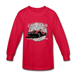 Kids' Long Sleeve T-Shirt | 58 Corvette | Classic American Automotive - Kids' Long Sleeve T-Shirt