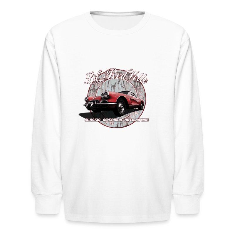 Kids' Long Sleeve T-Shirt   58 Corvette   Classic American Automotive - Kids' Long Sleeve T-Shirt