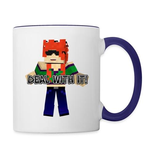 Deal With It Contrast Coffee Mug - Contrast Coffee Mug
