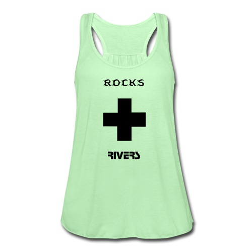 ROCKS AND RIVERS - Women's Flowy Tank Top by Bella