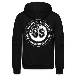 Starting Strongman Hoodie - Unisex Fleece Zip Hoodie by American Apparel
