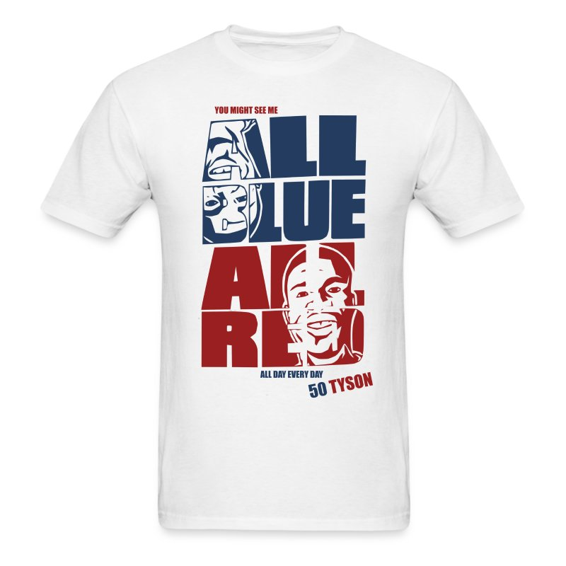 All Blue All Red - Men's T-Shirt