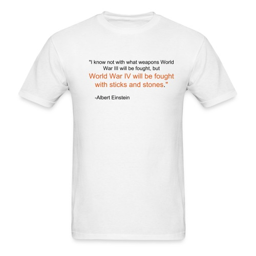 Albert Einstein Quote - Men's T-Shirt