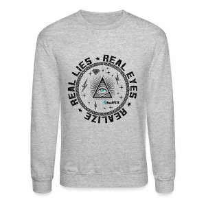 Real Eyes illuminati crewneck sweatshirt - Crewneck Sweatshirt