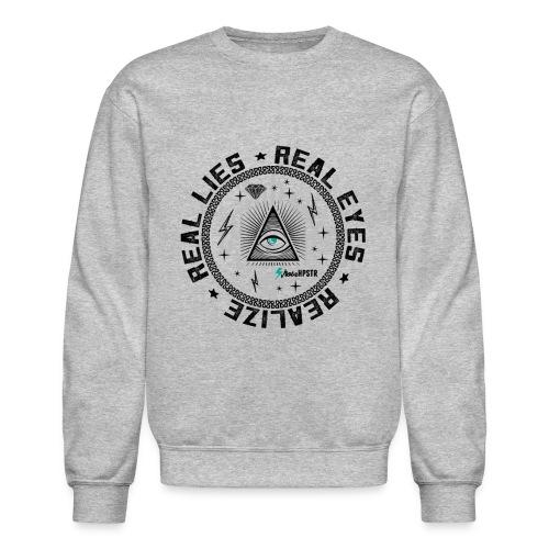 Real Eyes illuminati crewneck sweatshirt - Crewneck Sweatshirt
