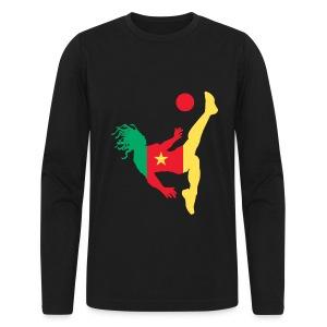 Cameroon kick - Men's Long Sleeve T-Shirt by Next Level