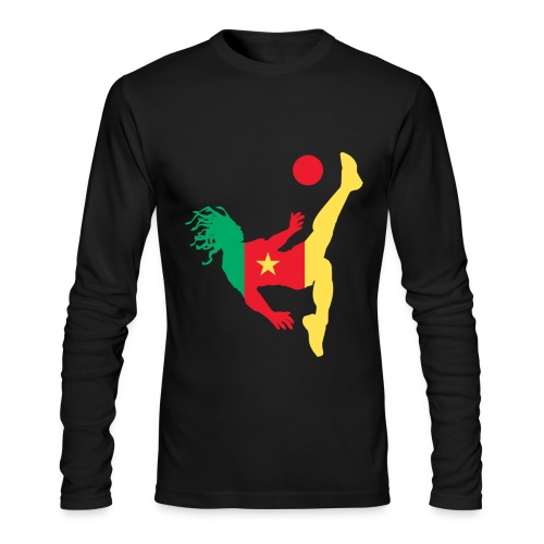 Cameroon kick - Men's Long Sleeve T-Shirt by Next Level