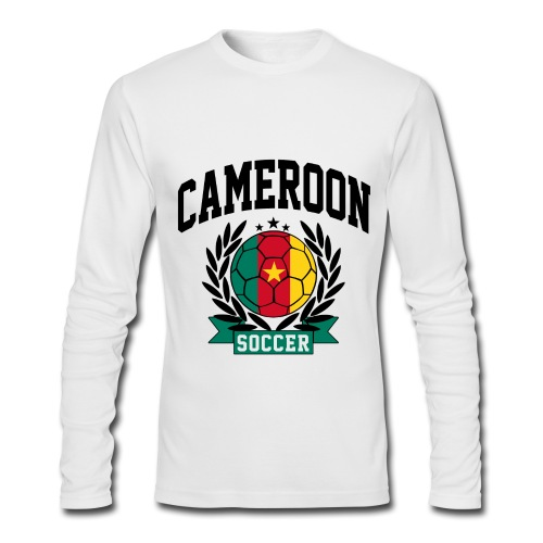 Cameroon soccer black - Men's Long Sleeve T-Shirt by Next Level