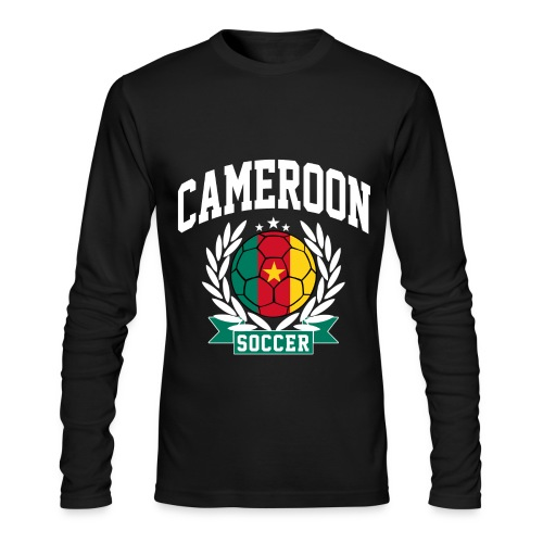 Cameroon soccer white - Men's Long Sleeve T-Shirt by Next Level