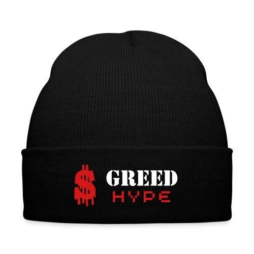 Greed Beanie - Knit Cap with Cuff Print