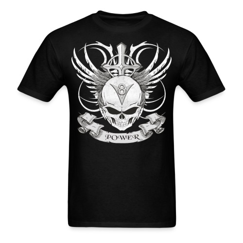 V8 logo with skull in tattoo style T-Shirts - Men's T-Shirt