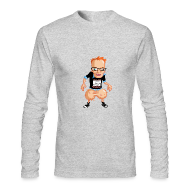 Long Sleeve Shirts ~ Men's Long Sleeve T-Shirt by Next Level ~ Medicated Pete Long Sleeve T - American Apparel