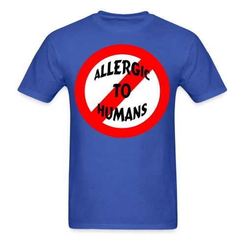 Allergic to humans - Men's T-Shirt